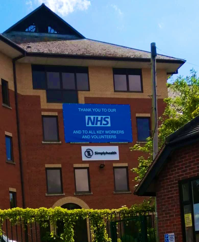 We've had an addition to one of our buildings in Andover #ThankYouNHS 🌈