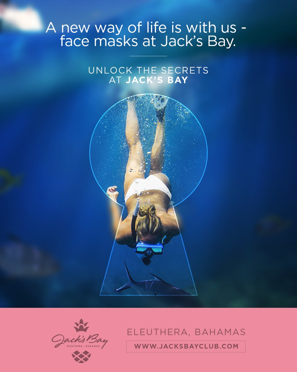 A new way of life is with us- face masks at Jack's Bay. Unlock the Secrets at Jack's Bay. Visit https://t.co/rvSwLHSgVO  #JacksBayClub #UnlockTheSecrets #SocialDistancing #RockSound #Eleuthera #Bahamas #TigerWoods #TGRDesign #Golf #Beach #LuxuryRealEstate #RealEstateAgent #Home https://t.co/MqrpUVr4F2