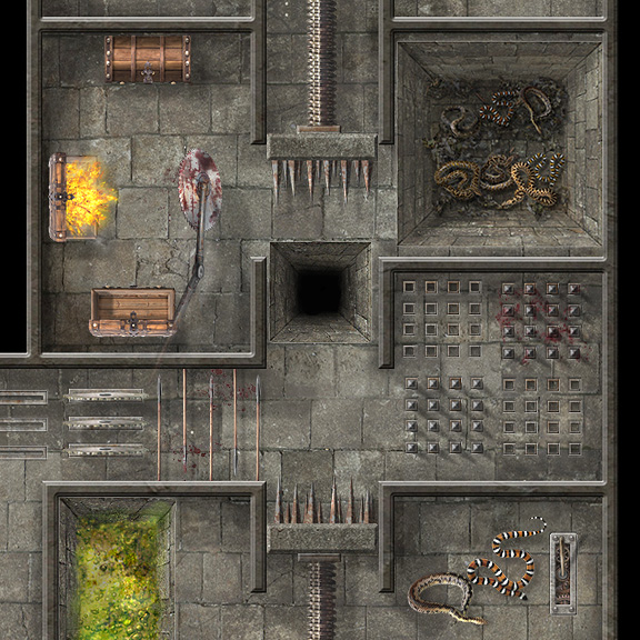 """Dungeon Masters, Spring is in the air, so why not celebrate by """"springing"""" some traps on your players? They'll LOVE it!🌼🔥☠️  https://t.co/OjLy4LhxJp For use in Roll20 or download after purchase.  @roll20app #dnd #pathfinder #roll20creator #rpg #dnd5e https://t.co/d3oE5EYQfu"""
