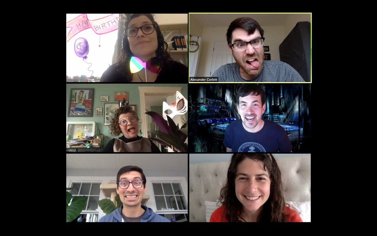 Feeling the love with this bunch today, as ever. Thank you for celebrating together and for expanding the squiggliness of my life! <3 #KeepOnSquiggling https://t.co/HdfsJsmy58 https://t.co/MHyGSADzcw