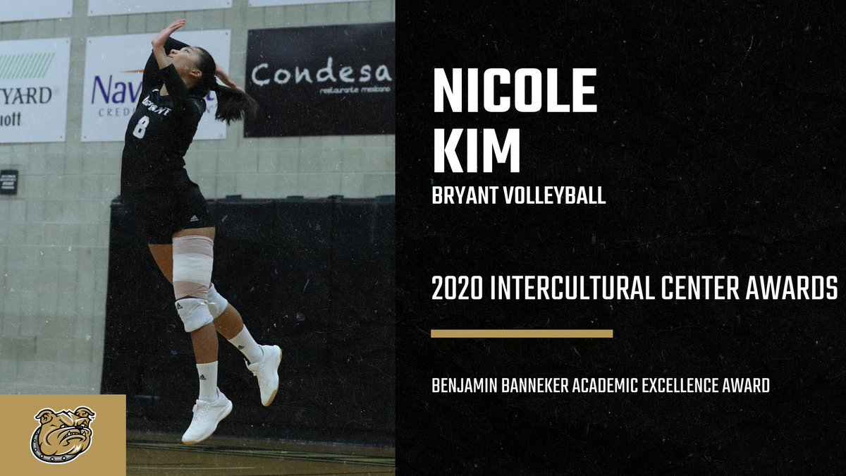 Congratulations to Nicole Kim on being named the recipient of the @BryantUniv Intercultural Center's Benjamin Banneker Academic Excellence Award!  #GoBryant   #NECVB https://t.co/pEBtsMLepN