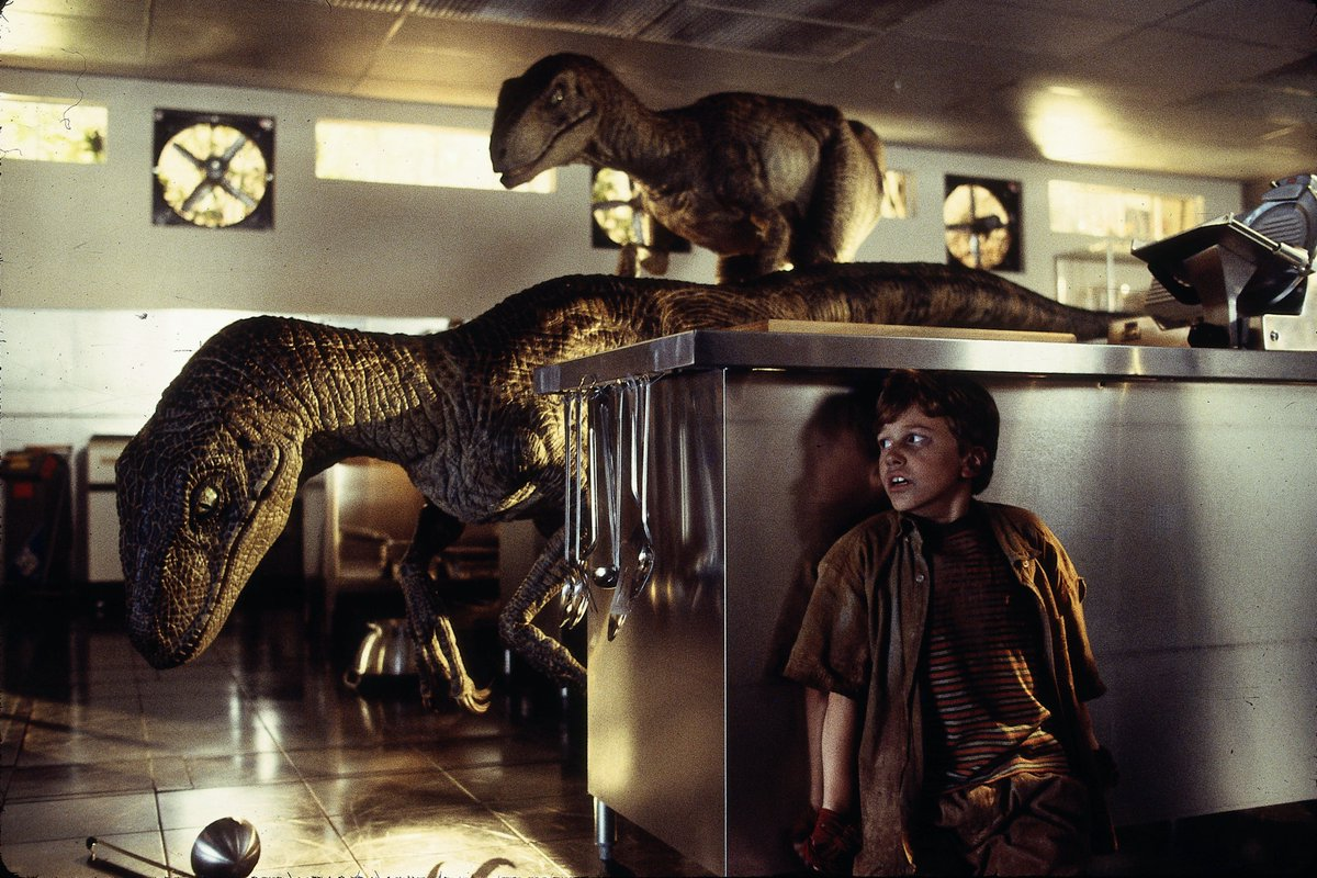 Raptors are in the kitchen. What's the first thing you reach for to defend yourself?