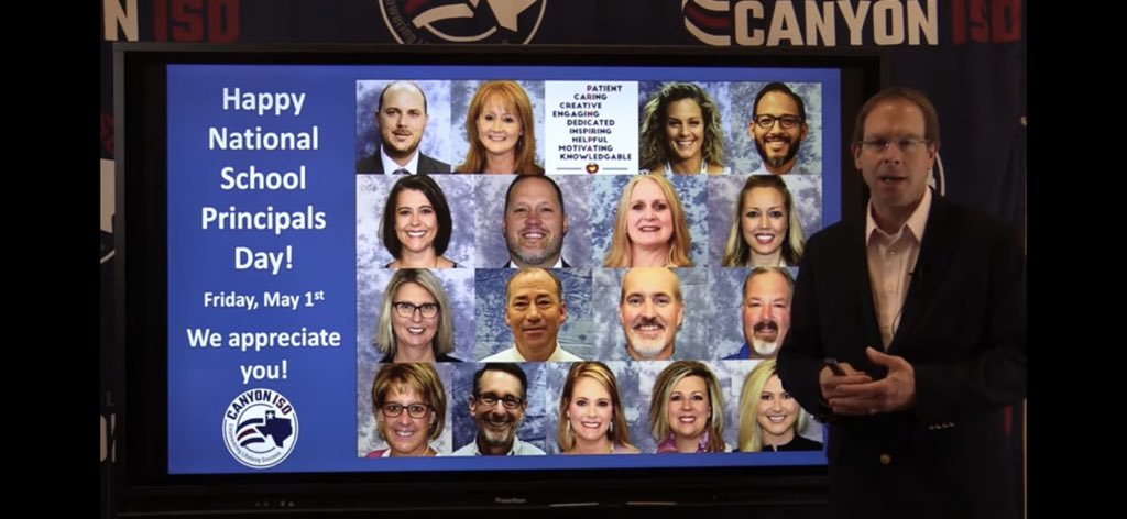 Happy Principals Day to our @CanyonISD campus leaders! 🎉#WeLeadTX @TEPSAtalk