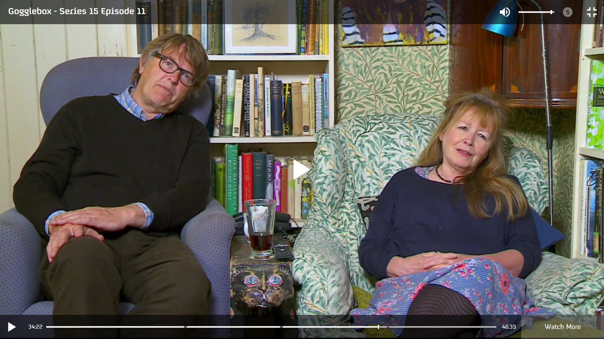 Honorable #GoggleboxersReact mention to Giles & Mary watching that same kiss #Gogglebox