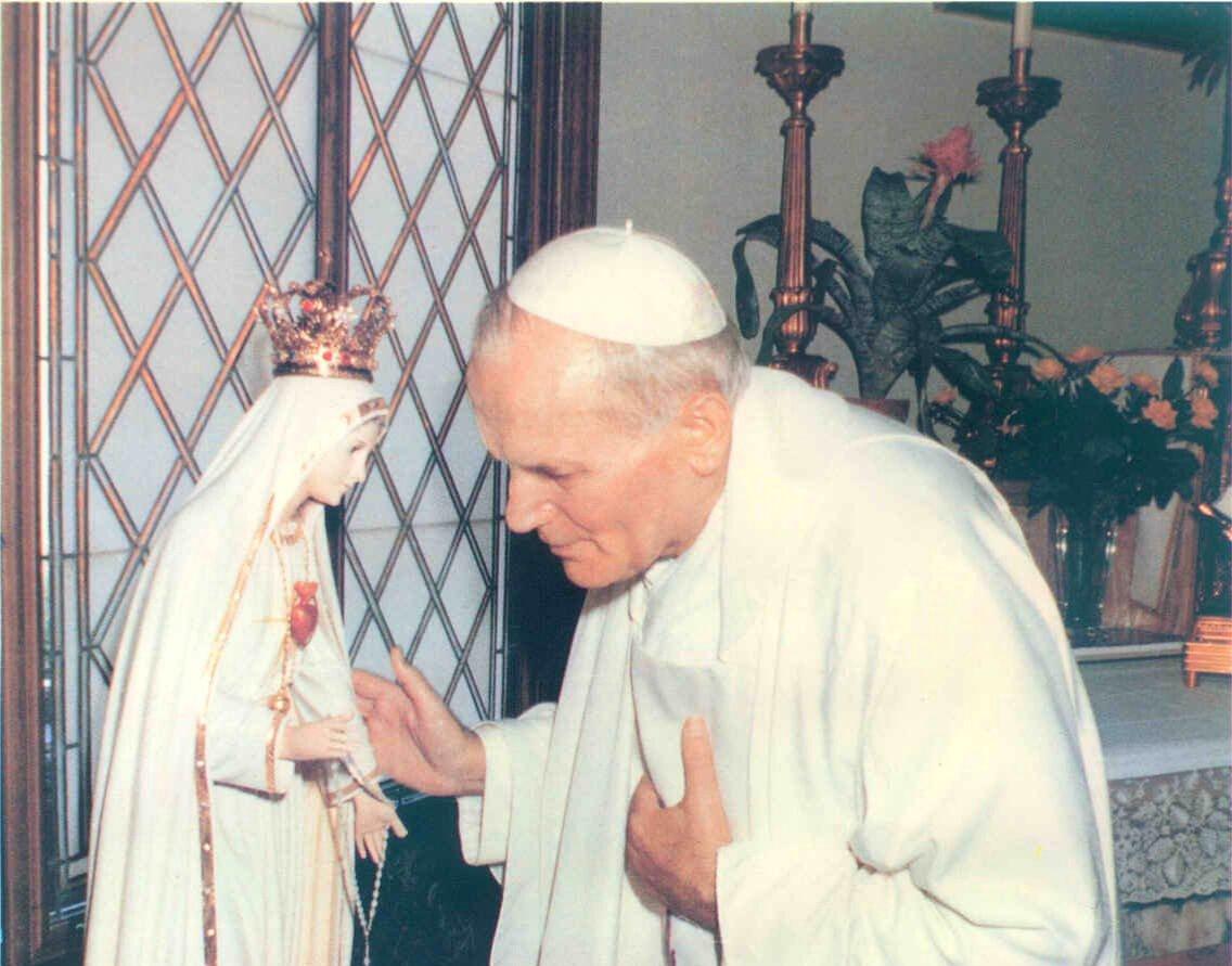 Imaculado Coração de Maria e São João Paulo II
