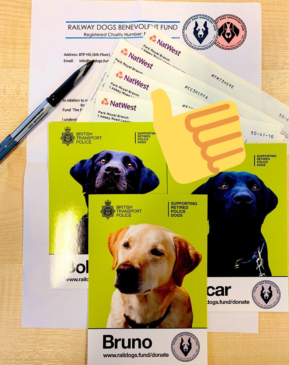 ...and some more positive news; at our Trustees Board meeting we approved some further awards from the Fund to help our RPDs. Our thanks to all who look after our amazing @BTPDogs once they've made their mark (once or twice) and have retired 🐾 #StayHomeStaySafe #ProtectTheNHS