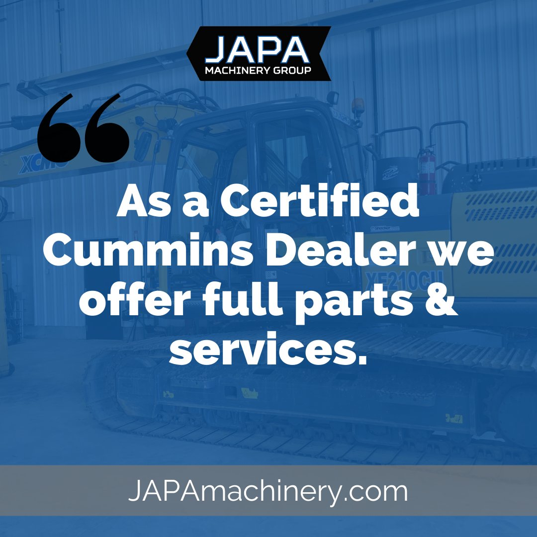 Happy Friday, #HeavyEquipment crew! Just a reminder that JAPA is a certified @Cummins dealer. So if you're in the market for Filters, Wabasto Heaters, Cummins Parts or Service - We are here for you!  Call 780.962.5272 #JAPAservice #Cummins #CumminsDealer #yeg #Albertapic.twitter.com/KGSYOQlbzu