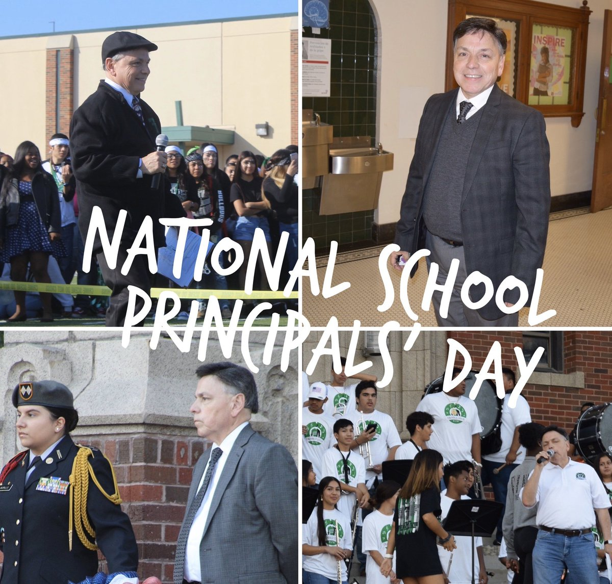 """""""First and foremost..."""" let's all wish Mr. Ramos a Happy #nationalprincipalsday! 🥳"""
