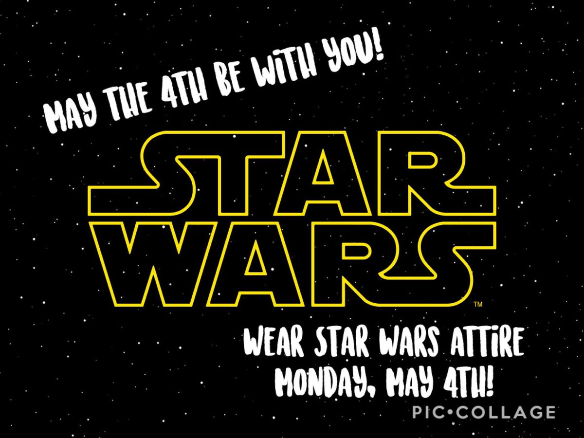 Don't forget to wear your Star Wars gear! We are the FORCE! Send me pictures! #WildcatsROAR