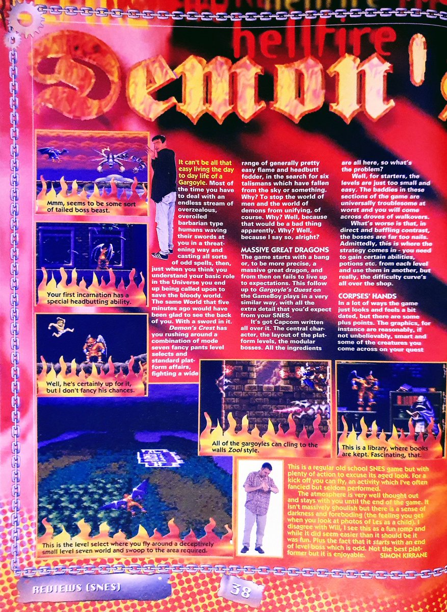 """Issue 28, April 1995  Demon's Crest review (SNES): """"Not really all that bad, there's just nothing new or even particularly challenging.""""  @BackupBoi1710 @snes @simonkirrane #demonscrest #ghoulsnghosts #SuperNintendo #Capcom"""