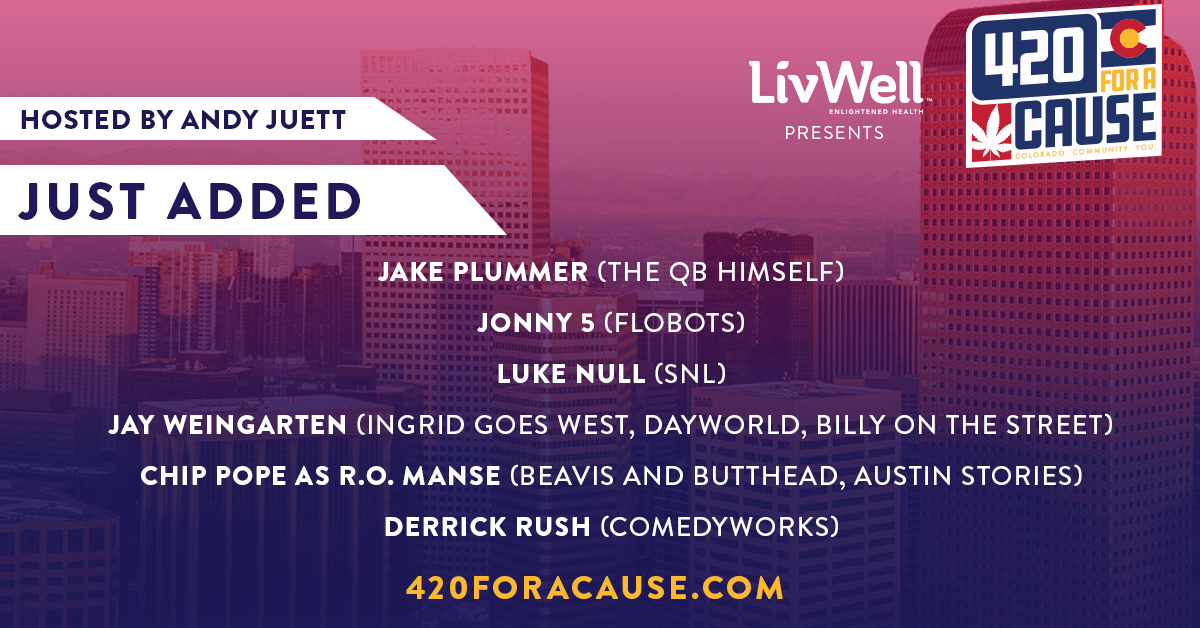 Hang with these additional guests during our #420foracause free live-stream event tomorrow to raise money for local CO restaurant/bar workers, musicians and comedians. https://t.co/ypOKec2st6 from 1-5:20pm MT! @snakestakes @Flobot5 @jayweingarten @thederrickrush @luke_null https://t.co/eq6Q1wsJFB