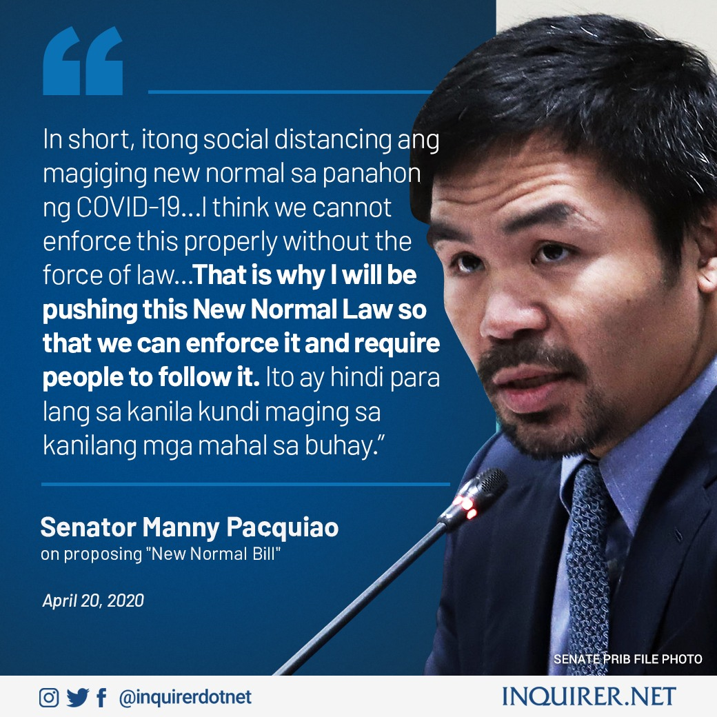 Inquirer On Twitter Senator Manny Pacquiao Is Set To File A New