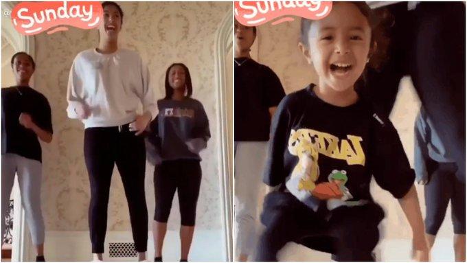 【影片】Kobe妻子不孤獨!瓦妮莎曬女兒們同框搞怪跳舞,一家氣氛好歡樂!