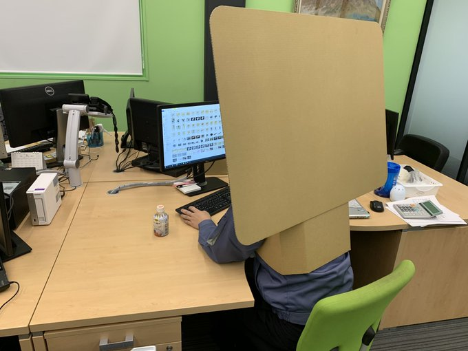 No video call background? No problem: make one to wear (Image: Twitter)