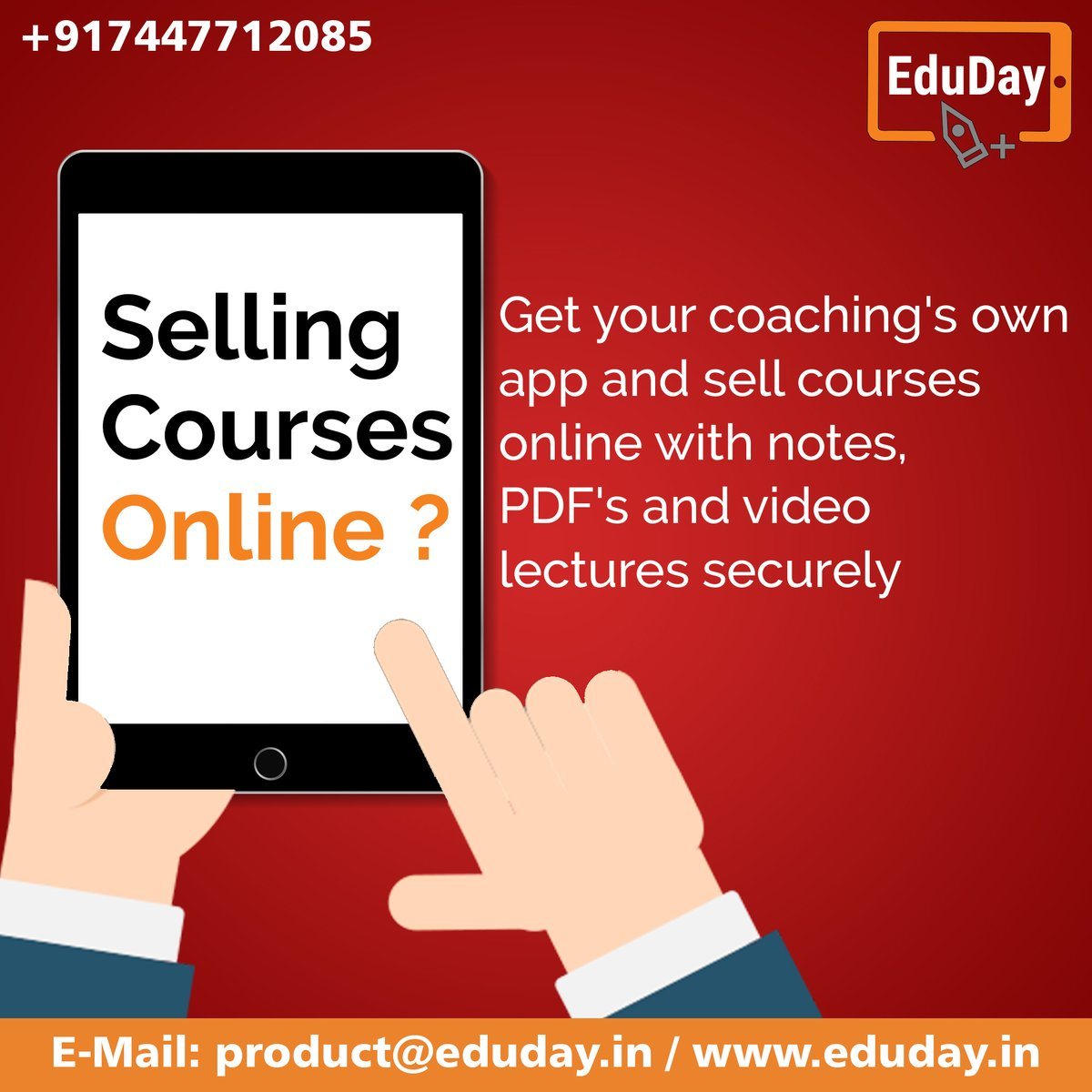 Transform Teaching, Inspire Learning and Deliver a world-class Student Experience.  Get in touch to know more:- Phone : +91 7447712085 E-Mail: product@eduday.in visit:- http://www.eduday.in  #eduday #edudayindia #pune #india #tab #tablets #CoachingInstitute #Coachingclassesspic.twitter.com/WySDp373vu