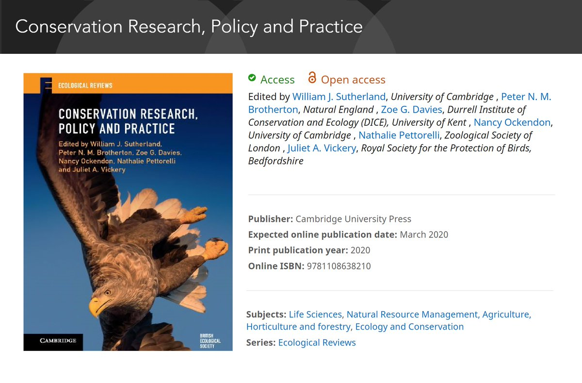 test Twitter Media - Excited to see the new #openaccess book from #EcologicalReviews: 'Conservation Research, Policy and Practice'. Free access to research & resources helps ensure #conservation is effective & equitable.https://t.co/9FIIdILHkW https://t.co/TCuTD2Ken3