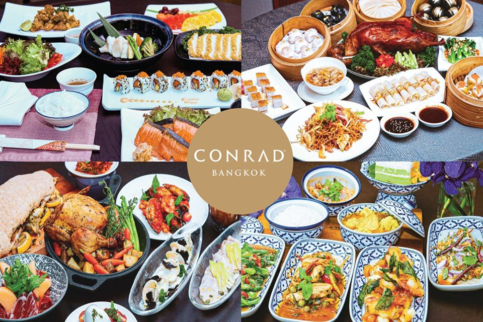 Conrad Bangkok offers 4 Signature Family Sets from our international chefs (Japanese, Chinese, Italian and Thai). Available from 11a.m.- 9p.m. Visit https://t.co/taZDDg2d2i for more details or to order. https://t.co/VScJ2kMdLp