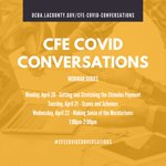 Image for the Tweet beginning: #CFECOVIDConversations start today at 1pm!