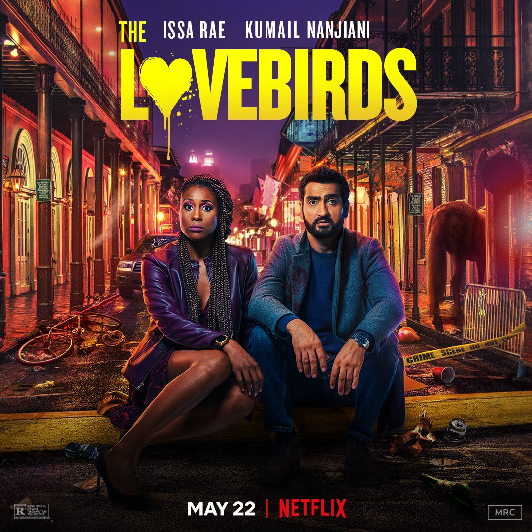 Issa Rae and Kumail Nanjiani's comedy #TheLovebirds  will now arrive on Netflix May 22. <br>http://pic.twitter.com/D5DWUgAhhz
