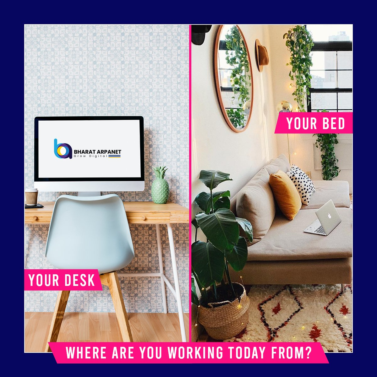 How is work from home going? Let us know in the comment section.  #lockdown2 #workfromhomelife #workfromhometips #workfromhomechallenge #wfhlife #BharatArpanet https://t.co/HiVfSUuTUY