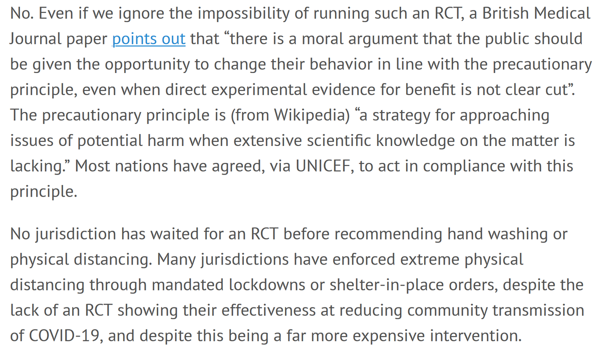 Shouldn't we wait for a randomized controlled trial before doing something?