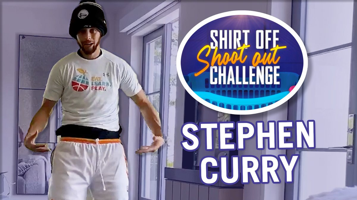 .@StephenCurry30 is the first NBA player to accept @JKCorden's #ShirtOffShootOut Challenge in support of @feedthechildren!  🔥  To see how you can get involved and donate: https://t.co/KpjnIZwuih https://t.co/EZbx3liE6H