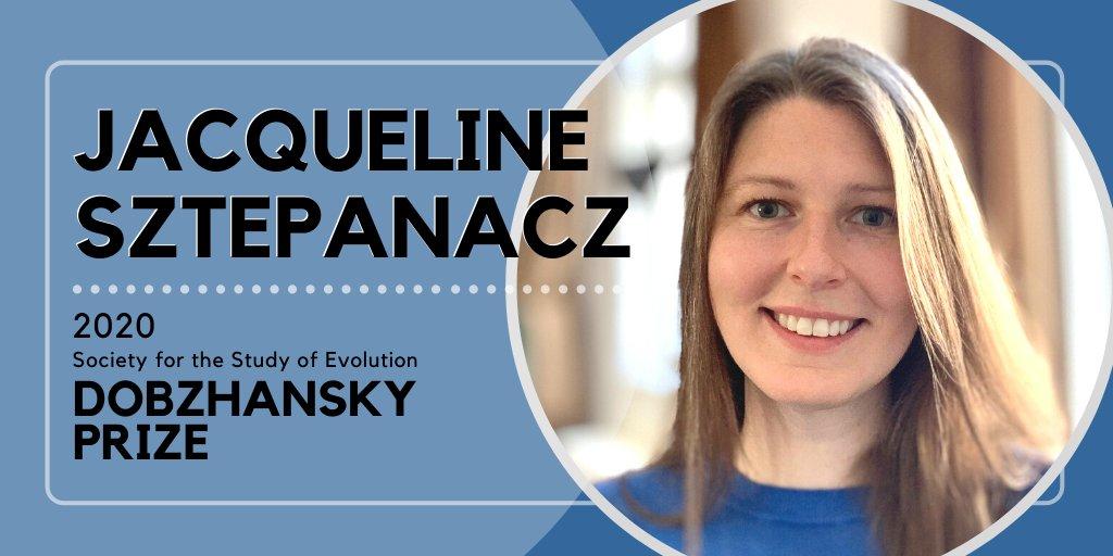 Congratulations to this year's SSE Dobzhansky Prize Winner, Dr. Jacqueline Sztepanacz!  @jsztepanacz