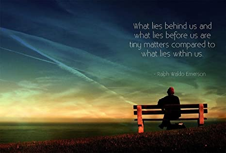 What lies behind us and what lies before us are tiny matters compared to what lies within us. - Ralph Waldo Emerson mabcnyc.org #MotivationMonday #Spirituality #OneWorldTogether #OneNewYork