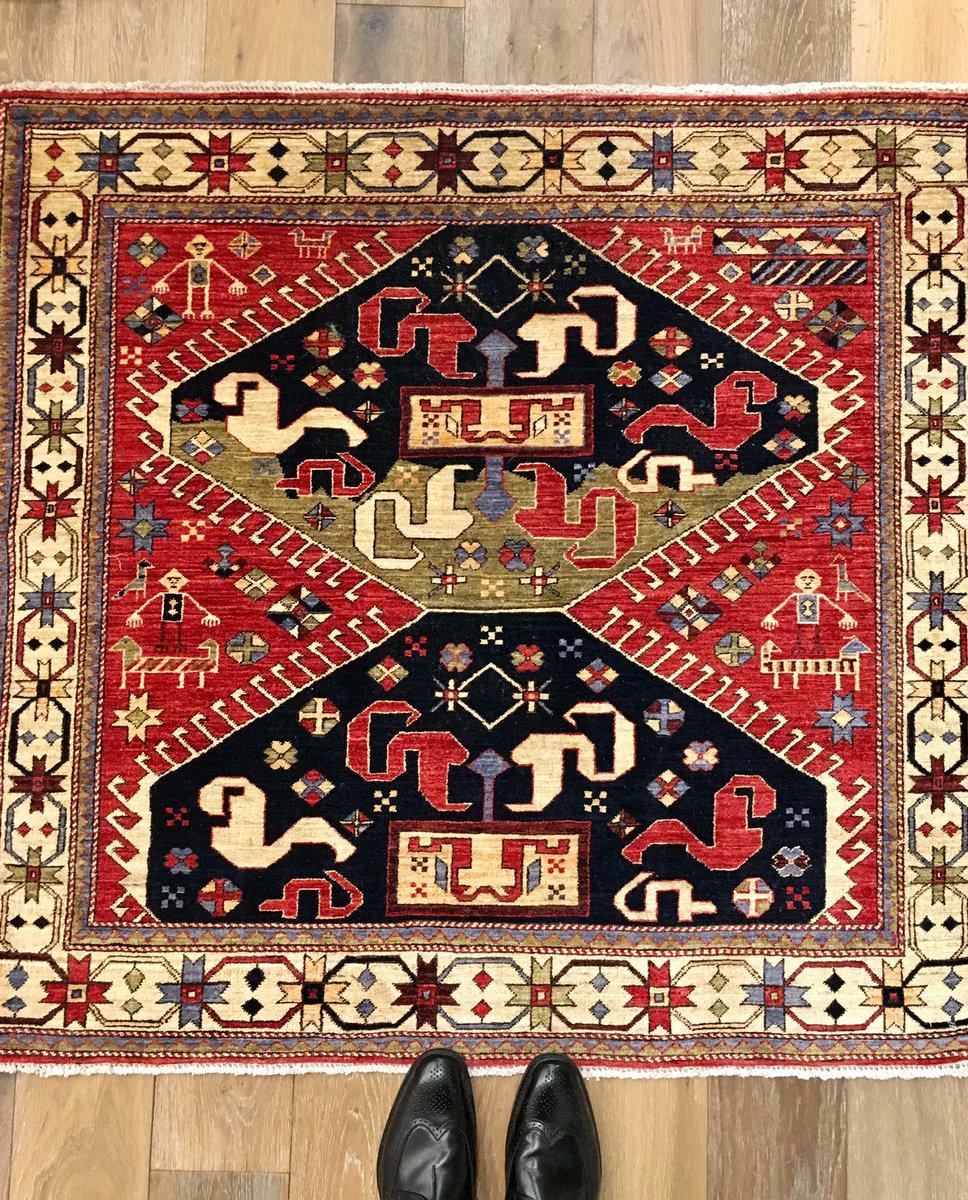 Small Square Afghan Tribal Rug