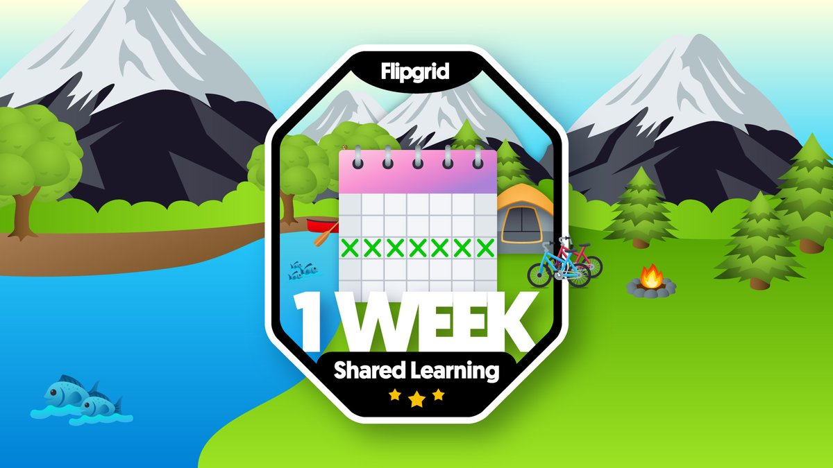 I am excited to rock my new @Flipgrid One Week Streak badge!