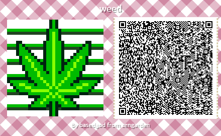 weed leaf custom design animal crossing
