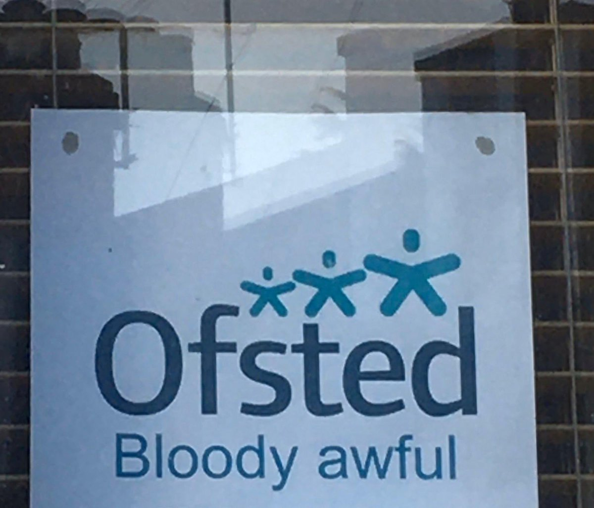 Saw this home learning sign a parent had put in their window.