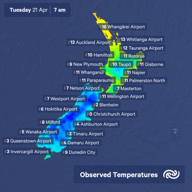Socks and slippers were the order of the day this morning in Christchurch at a frosty 0°C❄❄ What are the temps looking like in your town today? See bit.ly/metservicenz for full details ^MM https://t.co/DdNwHrCHLM