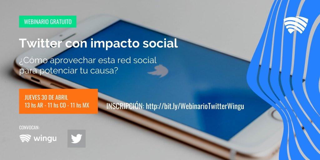 ¡Se viene nuestro próximo webinario junto al equipo de @Twitter!  Aprenderemos consejos y herramientas para aprovechar esta red social y potenciar tu causa 🙌. 📅 Jueves 30 de abril  ⏰ 13.00 🇦🇷| 11.00 🇨🇴| 11.00 🇲🇽 Inscripción 👉   ¡Te esperamos!