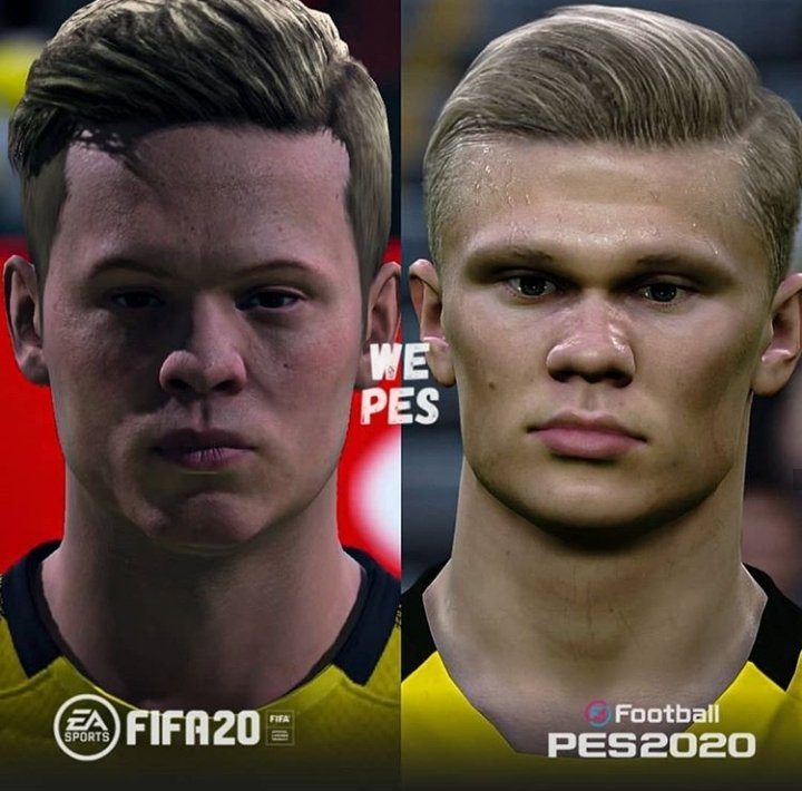 Fifacmtips On Twitter Fifa20 Vs Pes2020 Game Faces Erling Haaland Borussia Dortmund Arthur Fc Barcelona Bruno Fernandes Manchester United Renan Lodi Atletico Madrid Easportsfifa Really Needs To Do