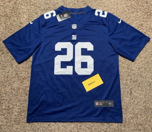 I am giving away this Saquon Barkley Jersey to ONE lucky follower when I reach 100,000 followers. RETWEET this tweet and FOLLOW ME for a chance to win. MUST BE FOLLOWING ME TO ENTER 😳🔥 https://t.co/0zNS2ukktB
