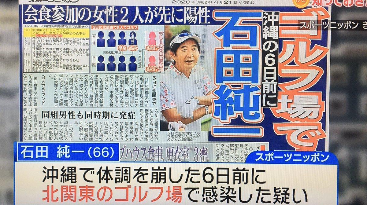 石田 純一 コロナ 経緯