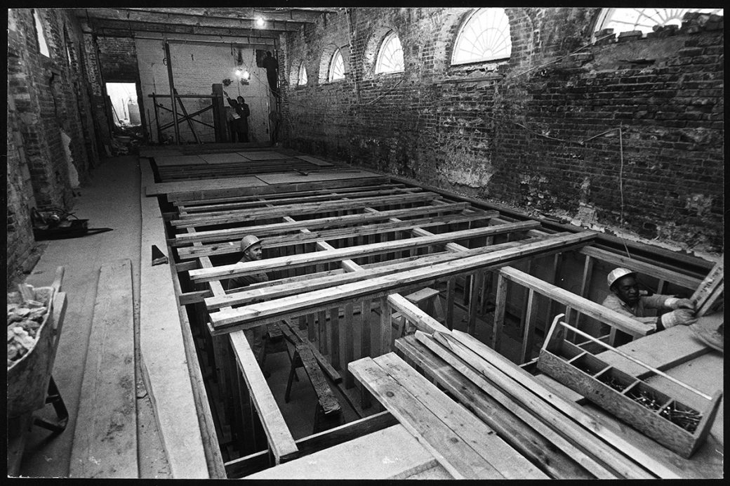Construction of White House press room over old swimming pool: