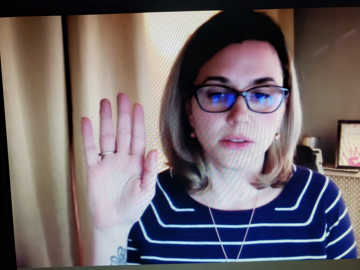 In a 6-2 vote, the Scranton School Board appoints Michelle Dempsey to the vacant seat. She took the oath of office on Zoom. https://t.co/5sd4CXX4b7