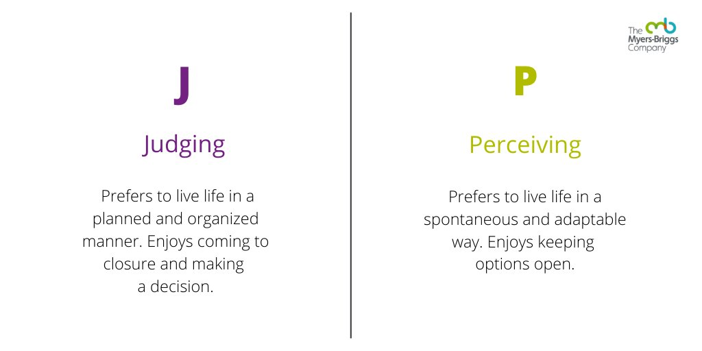 """The Myers-Briggs Company on Twitter: """"How do you approach the outside world–with a judging or perceiving preference? @thembti #personality #type #personalitytype #mbti #mbtitype #judging #perceiving #preference… https://t.co/b1i2KCawz2"""""""