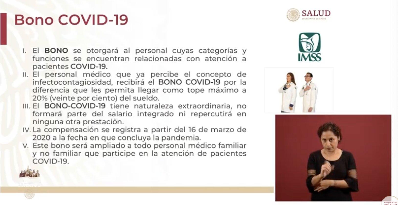 Bono COVID-19 sólo será para personal médico que atiende el coronavirus en el país