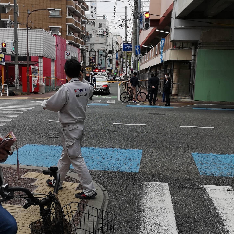 福岡市南区大橋のうなぎの黒田屋で立てこもり事件の現場画像