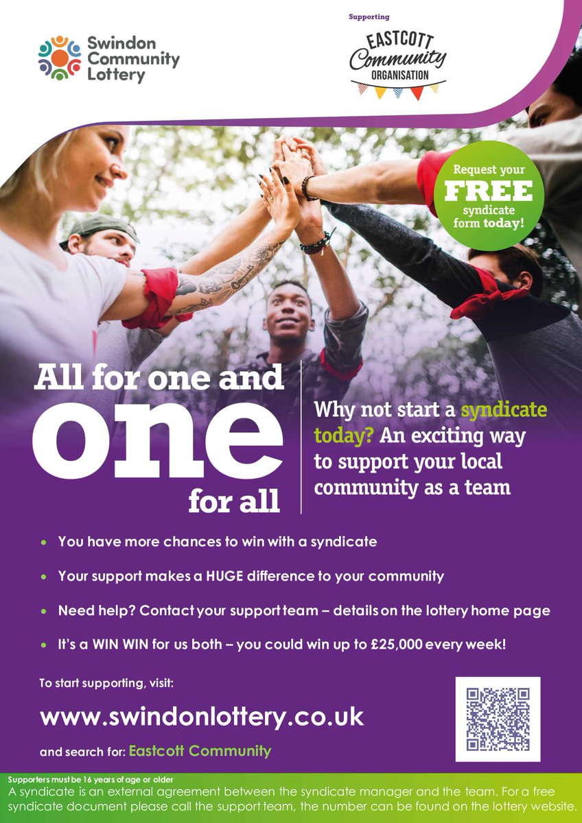 Just a reminder, do take part and be in with the chance to win some dosh and help us as a community organisation!