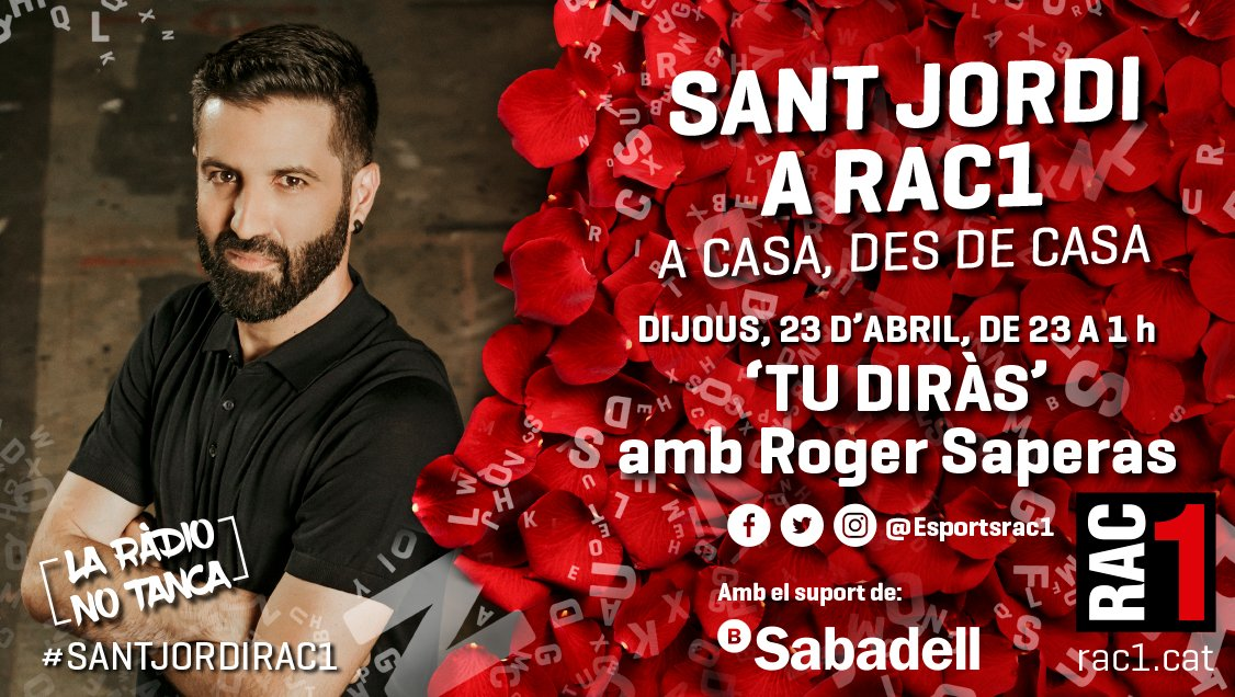 ⏰ Senyores i senyors, bona nit. Són les 11 👋 Benvinguts al #TuDiràs especial #SantJordiRAC1 🎙 Amb @RogerSaperas ▶️ https://t.co/mgiw08ja2R https://t.co/8EWjKQqNXw