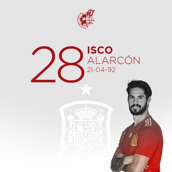 🥳 ¡Feliz cumpleaños a @isco_alarcon! El internacional del @realmadrid y campeón de Europa Sub-21 con nuestra camiseta cumple 28 años.  ¡¡MUCHAS FELICIDADES!!🎂  #HBD