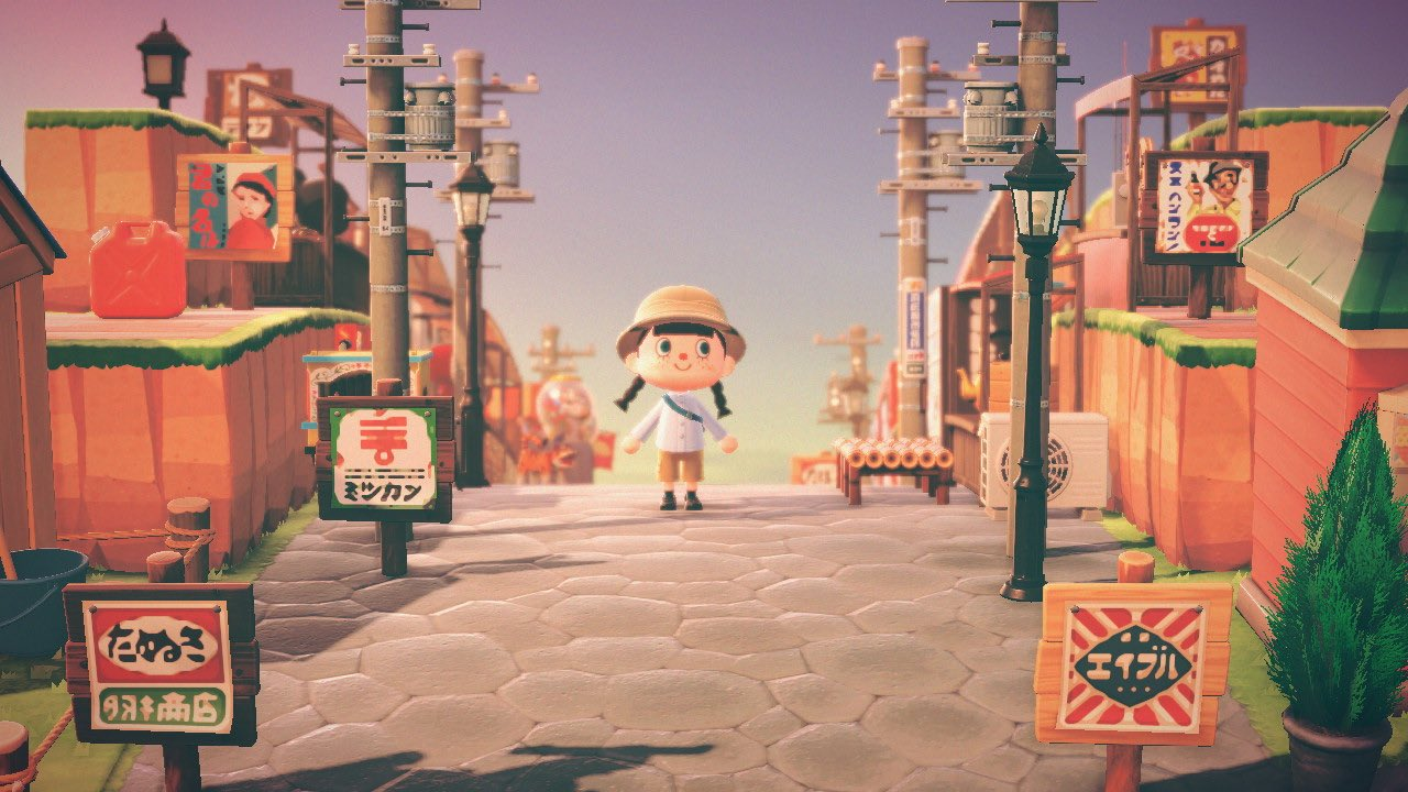 Animal Crossing Player Recreates Japanese Shopping District In New Horizons Nintendosoup