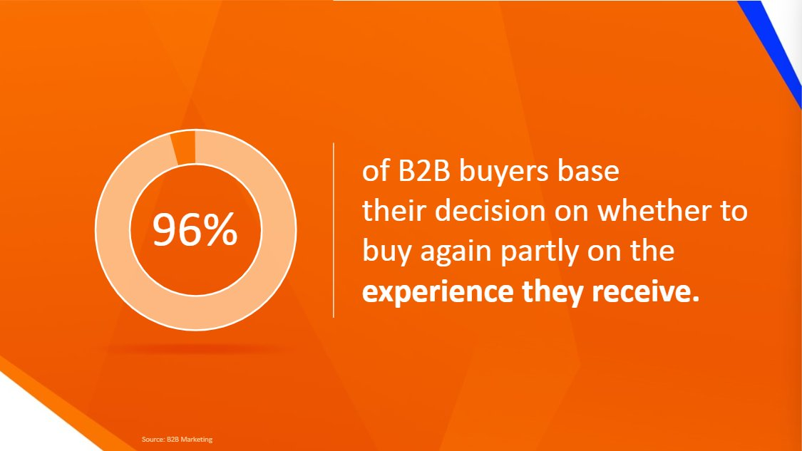 Yasser Salah Salah @Informatica shares 96% of B2B buyers base their decision to re-buy based on the experience they receive #IDCDigital https://t.co/cPFQbdvgNP