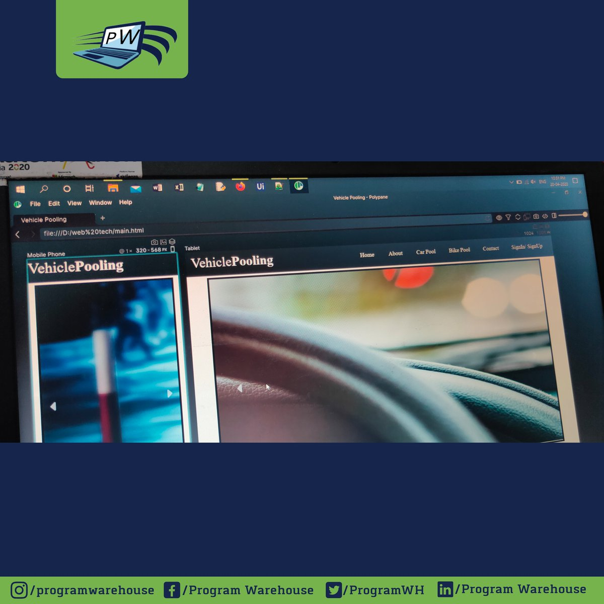 Our web developers using @polypane tools while making a responsive websites  For more information visit :  https:// programwarehouse.co /     #programwarehouse #projectwork #protectyourself #webdesigners #websitedesigns #websitebuilder #websitedeveloper #websitelaunch<br>http://pic.twitter.com/1Zj9S9aXHu