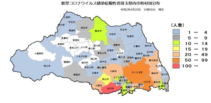 新型コロナウイルス感染者数埼玉県