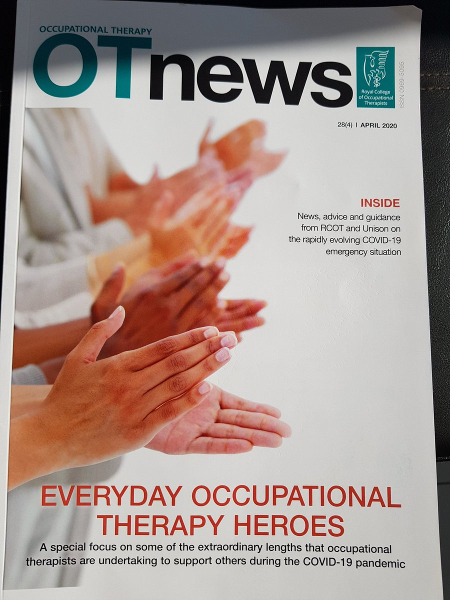 Make sure you take the time to read this months @OTnews lots of useful tips and guidance. Thank you @theRCOT #COVIDー19 #occupationaltherapyheroes